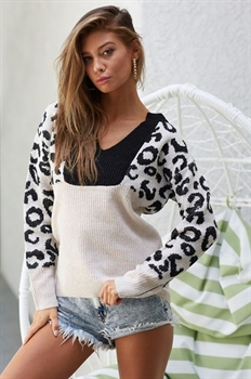 Picture of Leopard Block Sweater